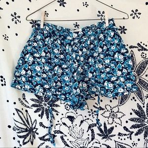 Aerospostale floral flowy belted short shorts